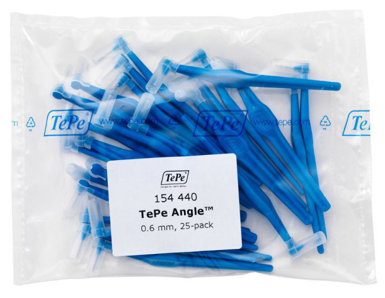 Межзубные ёршики Angle синие с длинной ручкой 0,6мм