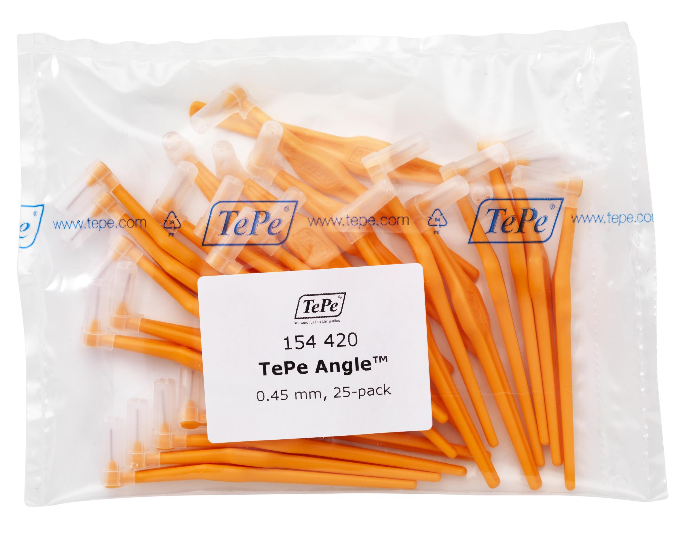 Межзубные ёршики Angle оранжевые с длинной ручкой 0,45мм