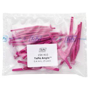 Межзубные розовые щетки Angle с длинной ручкой 0,4мм