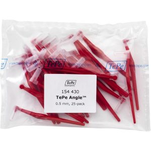 Межзубные красные щетки Angle с длинной ручкой 0,5мм