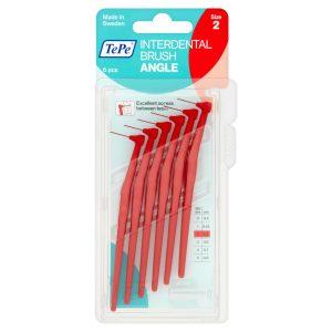 Межзубные ёршики Angle красные с длинной ручкой 0,5мм