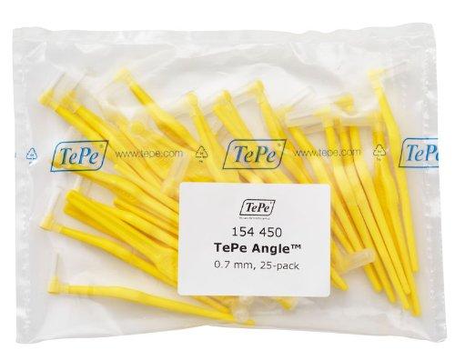 Межзубные ёршики Angle желтые с длинной ручкой 0,7мм