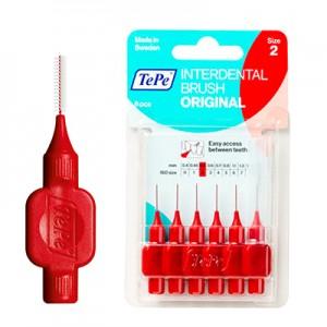 Межзубные ёршики светло красные с короткой ручкой 0,5мм