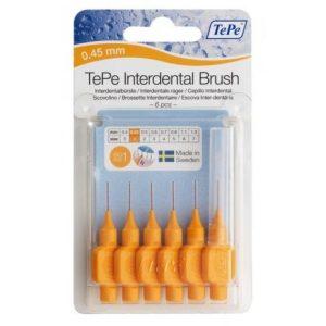 Межзубные ёршики оранжевые с короткой ручкой 0,45мм