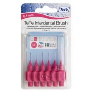Межзубные ёршики розовые с короткой ручкой 0,4мм