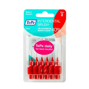 Межзубные ёршики красные с короткой ручкой 0,5мм
