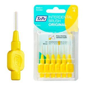 Межзубные ёршики желтые с короткой ручкой 0,7мм